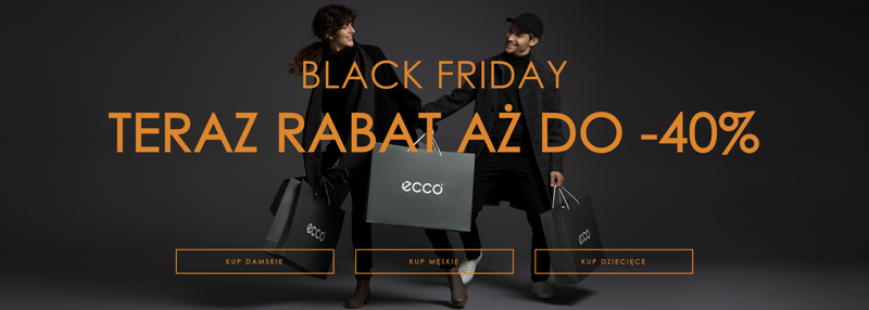Ecco: Black Friday do 40% rabatu na obuwie damskie, męskie i dziecięce                         title=
