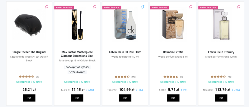 E-Glamour: do 80% rabatu na kosmetyki i perfumy
