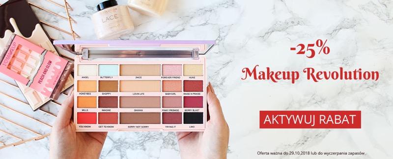 Ekobieca: 25% zniżki na kosmetyki marki Makeup Revolution