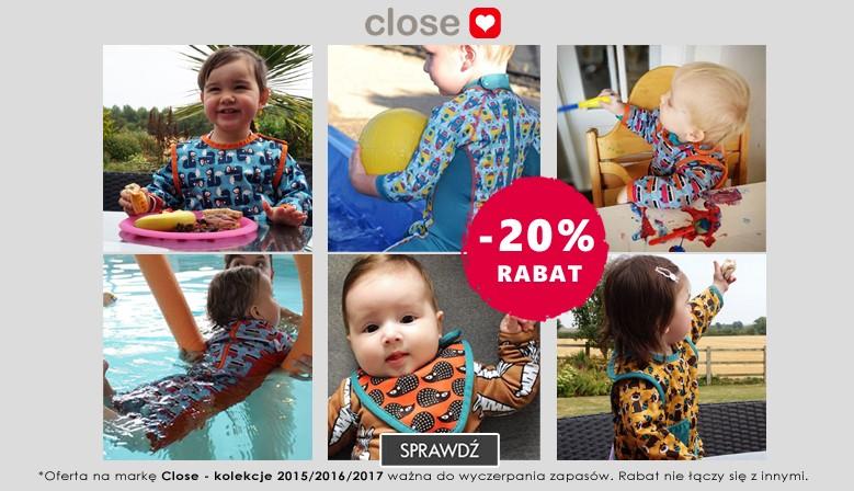 Ekodrogeria: 20% zniżki na ekologiczną odzież dziecięcą marki Close                         title=