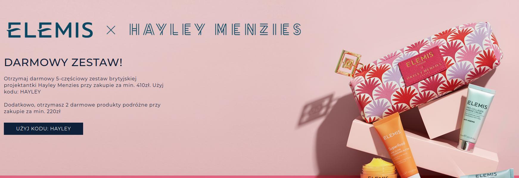 Elemis: zrób zakupy za min. 410 zł, a otrzymasz 5-częściowy zestaw marki Hayley Gratis