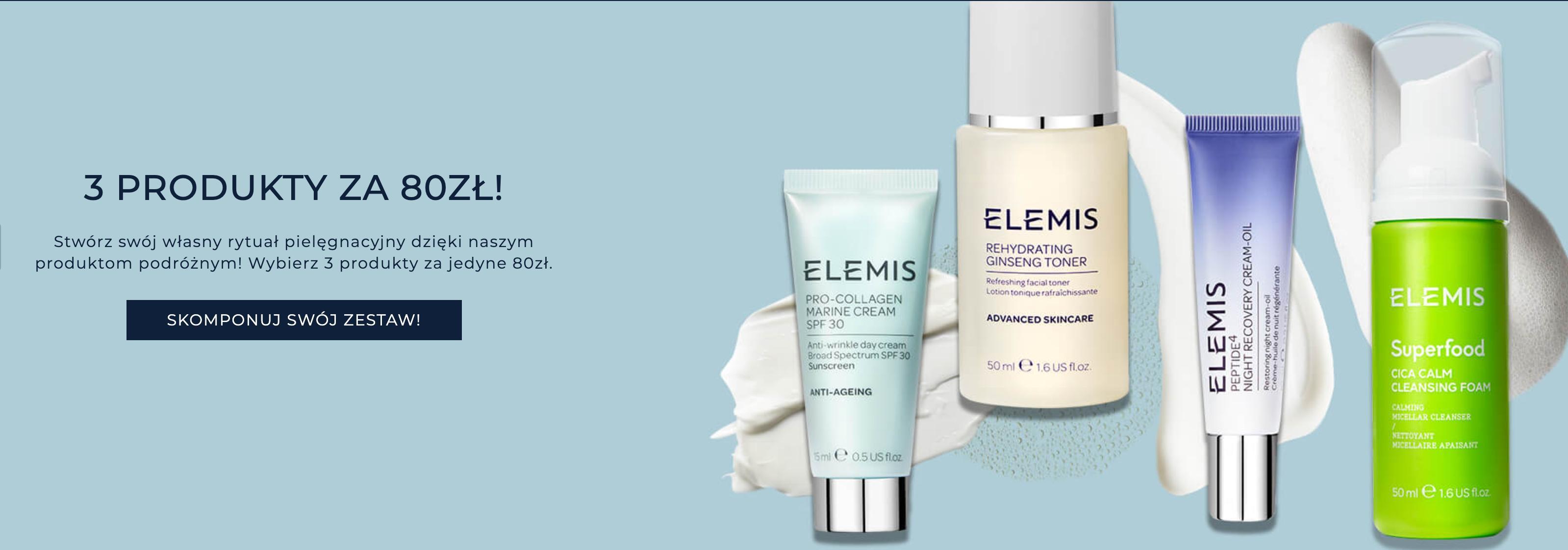 Elemis: 3 produkty podróżne do twarzy i ciała za 80 zł