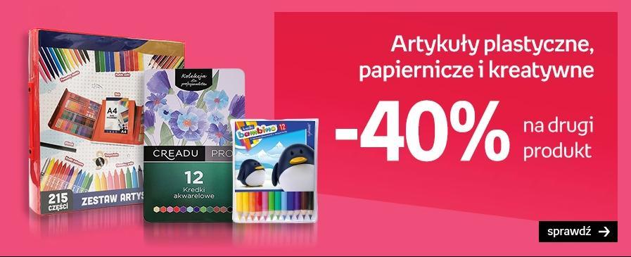 Empik: 40% zniżki na drugi produkt z asortymentu artykułów plastycznych, papierniczych i kreatywnych