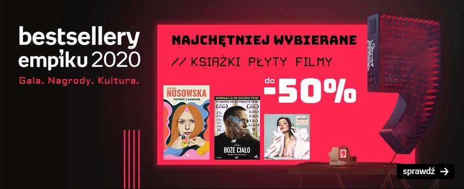 Empik Empik: do 50% rabatu na najchętniej wybierane książki, płyty oraz filmy