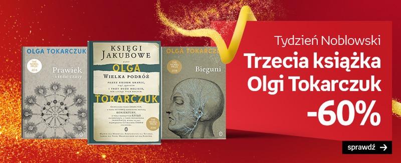 Empik: 60% rabatu na trzecią książkę Olgi Tokarczuk
