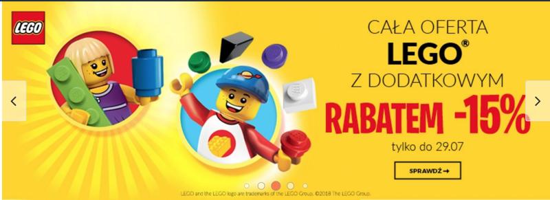 Empik: dodatkowe 15% rabatu na całą ofertę klocków LEGO                         title=