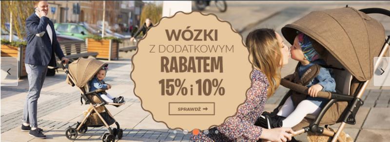 Empik: dodatkowe 15% i 10% zniżki na wózki dziecięce                         title=