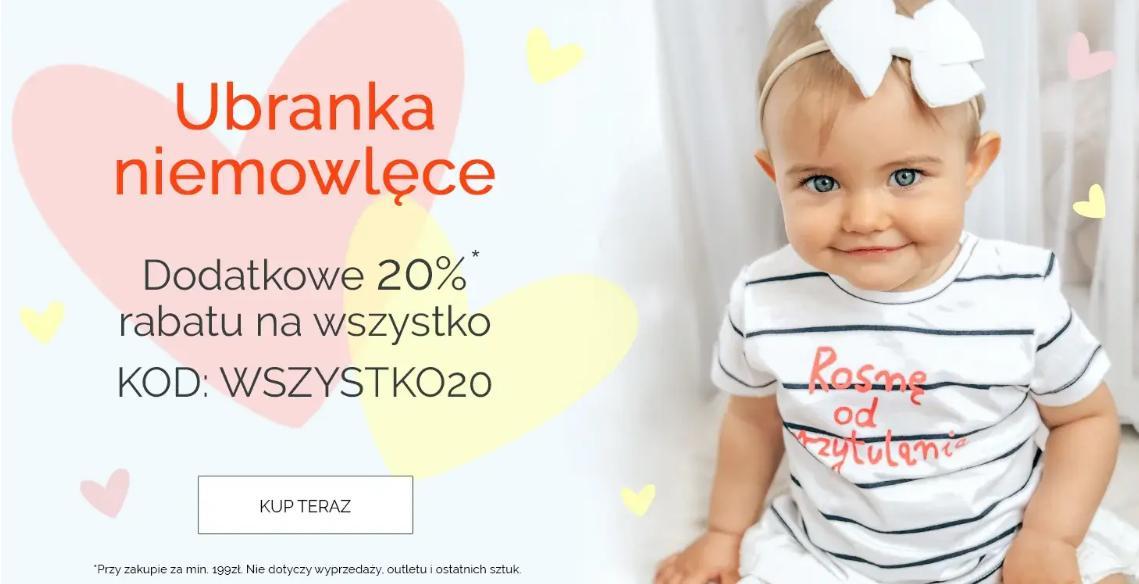 Endo Endo: dodatkowe 20% zniżki na ubranka niemowlęce przy zakupach za min. 199 zł