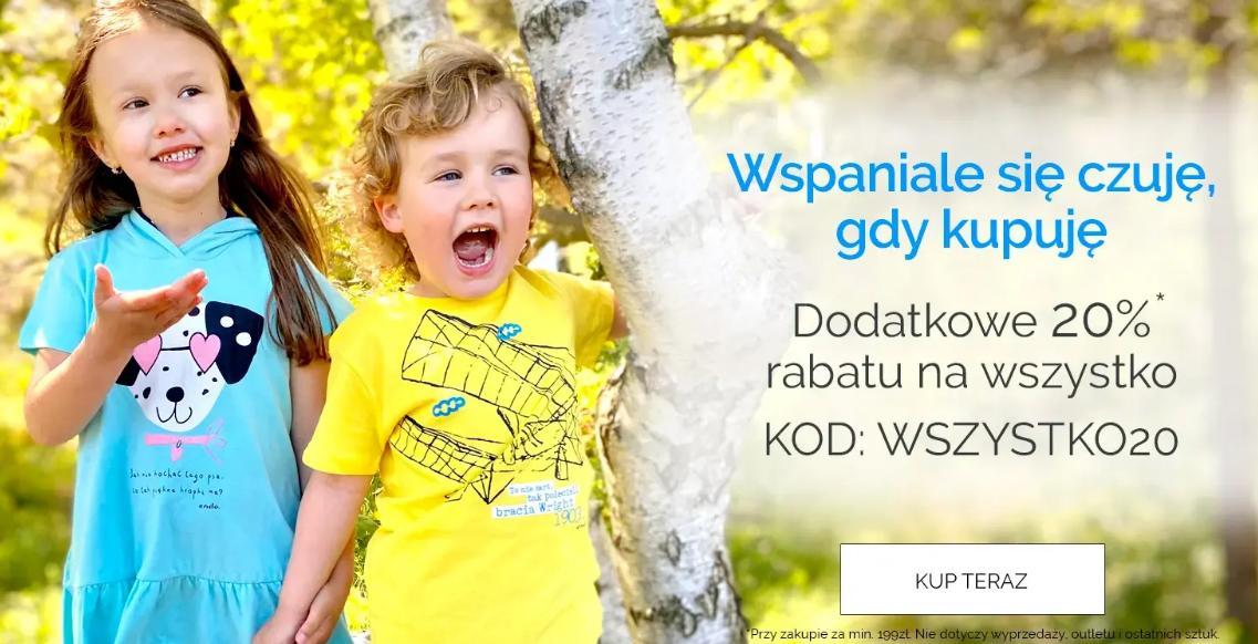 Endo: dodatkowe 20% zniżki na odzież dziecięcą przy zakupach za min. 199 zł
