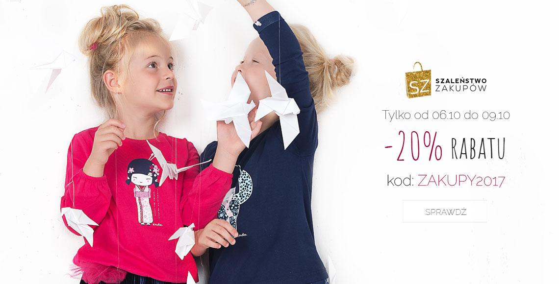 Endo Endo: weekend zniżek 20% rabatu na odzież i obuwie dla dzieci