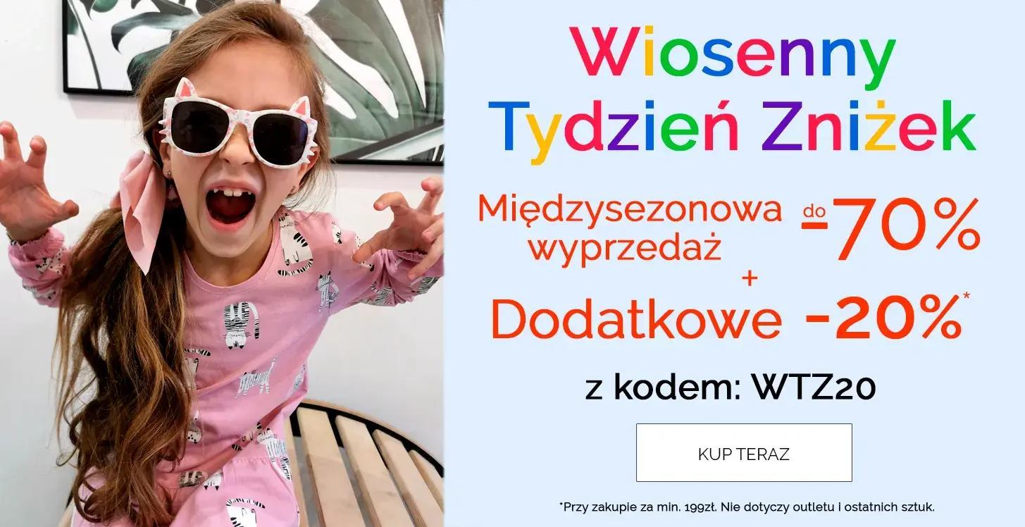 Endo: wyprzedaż do 70% zniżki na odzież dla dzieci