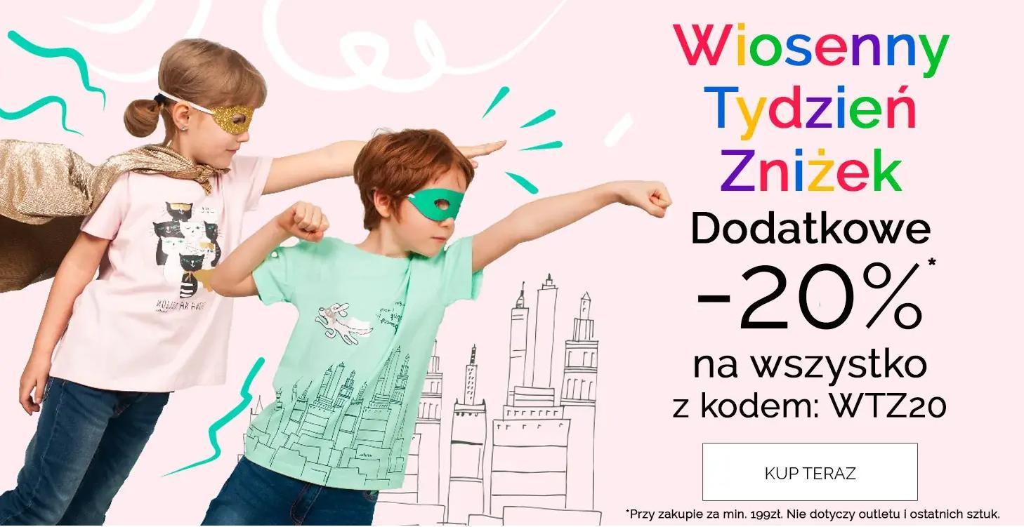 Endo: dodatkowe 20% zniżki na cały asortyment odzieży oraz obuwia dla dzieci