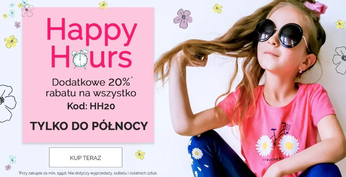 Endo: dodatkowe 20% rabatu na cały asortyment odzieży dla dzieci - Happy Hours