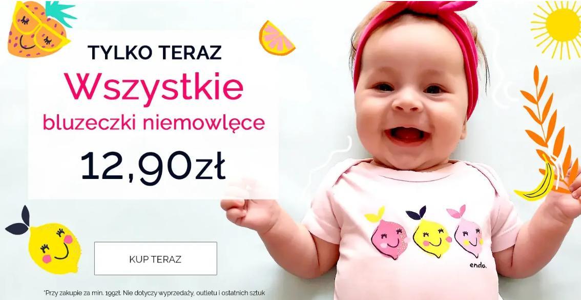 Endo Endo: wszystkie bluzeczki niemowlęce za 12,90 zł