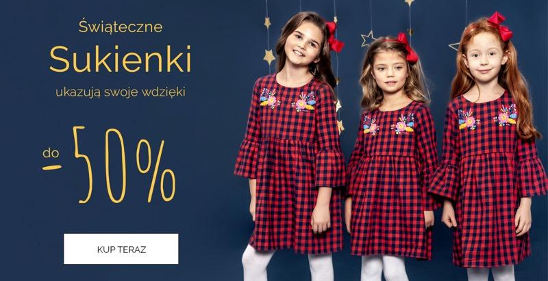 Endo: do 50% zniżki na świąteczne sukienki dla dziewczynek                         title=