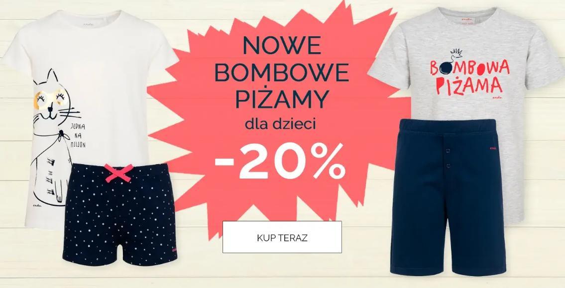 Endo: 20% zniżki na piżamy dla dzieci
