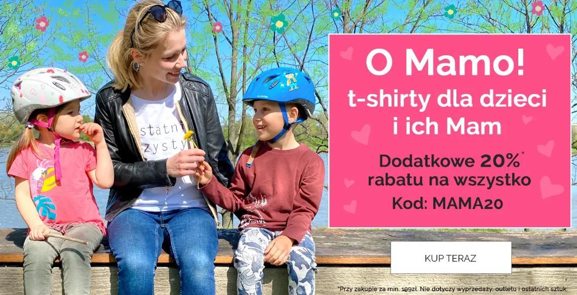 Endo: dodatkowe 20% zniżki na t-shirty dla dzieci i ich mam - Dzień Mamy