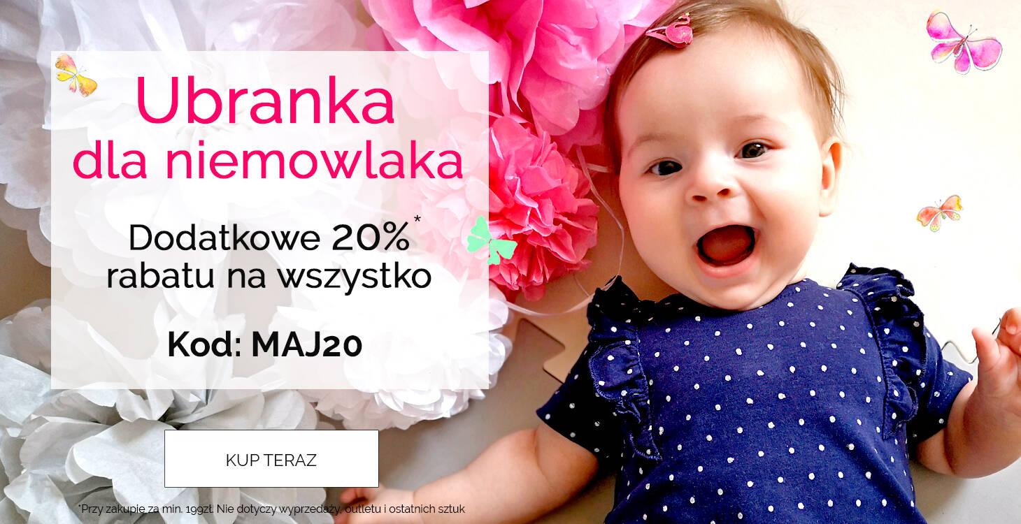 Endo: dodatkowe 20% rabatu na cały asortyment ubranek niemowlęcych
