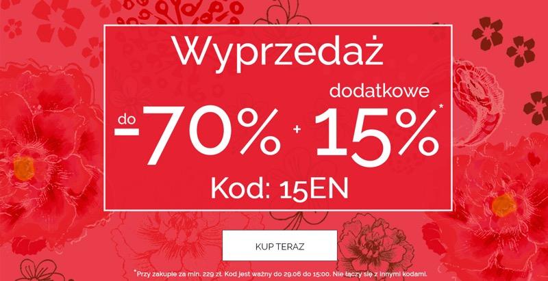 Endo: wyprzedaż do 70% zniżki + dodatkowe 15% na odzież dla dzieci                         title=