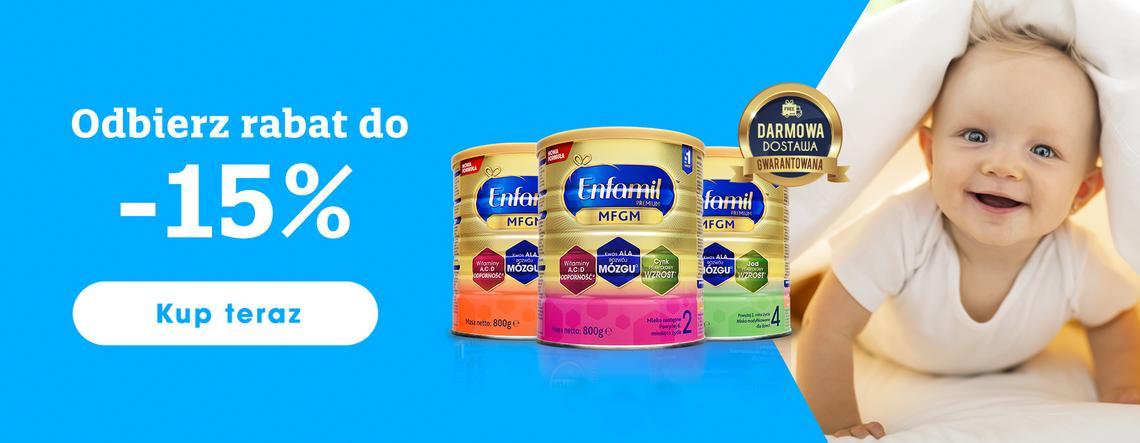 Enfamil: do 15% zniżki na mleko modyfikowane dla dzieci