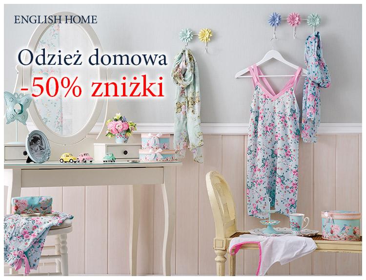 English Home: 50% zniżki na odzież domową