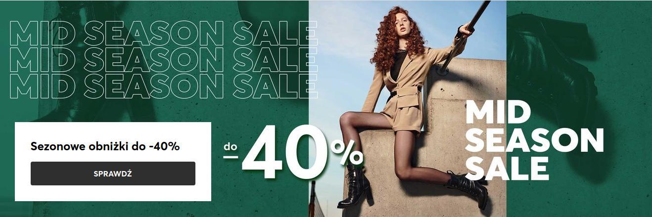 Eobuwie: wyprzedaż do 40% rabatu na obuwie damskie, męskie i dziecięce, akcesoria oraz torby