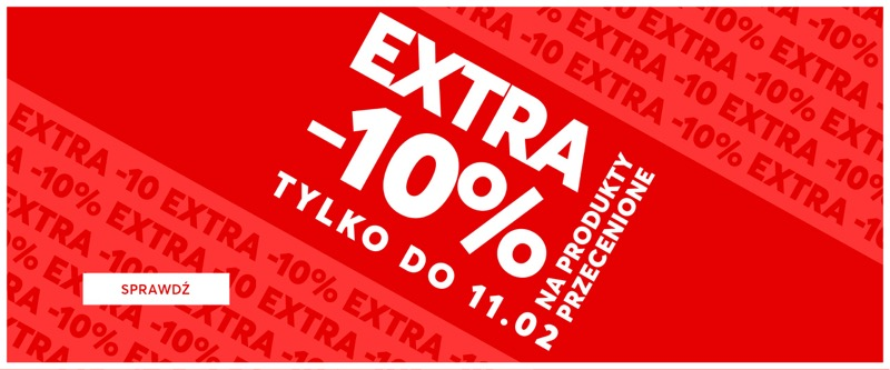 Eobuwie: extra 10% rabatu na produkty przecenione                         title=