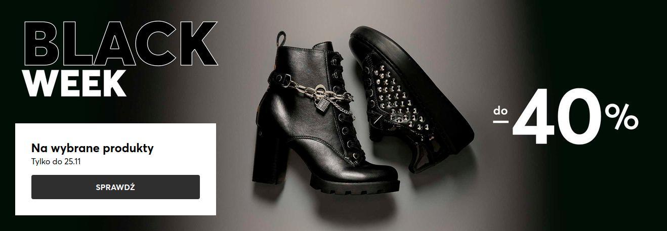 Eobuwie: Black Week do 40% rabatu na wybrane obuwie damskie, męskie i dziecięce, torby oraz akcesoria