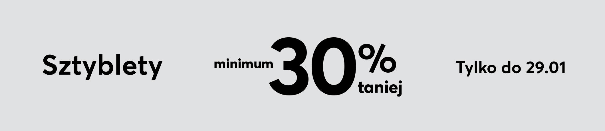Eobuwie: min. 30% rabatu na wybrane sztyblety