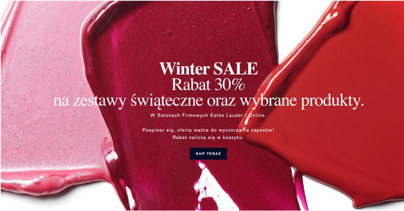Estee Lauder: zimowa wyprzedaż 30% zniżki na zestawy świąteczne oraz wybrane kosmetyki