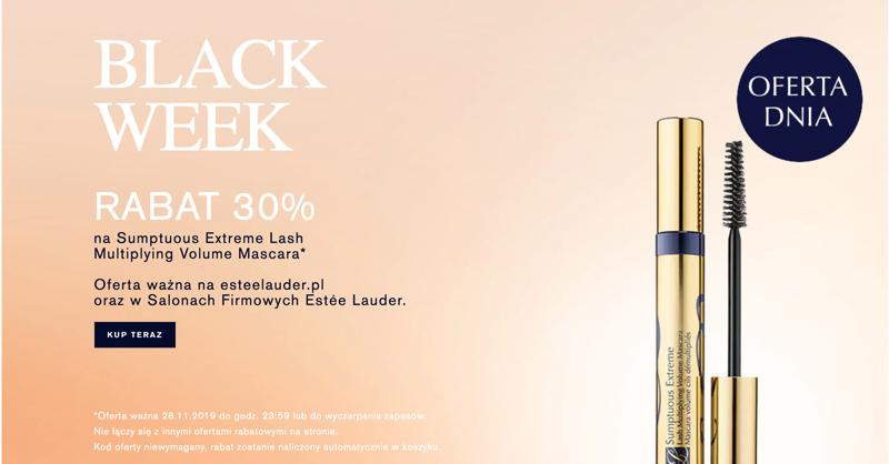 Estee Lauder: Black Week 30%  zniżki na Sumptuous Extreme Lash Multiplying Volume Mascara