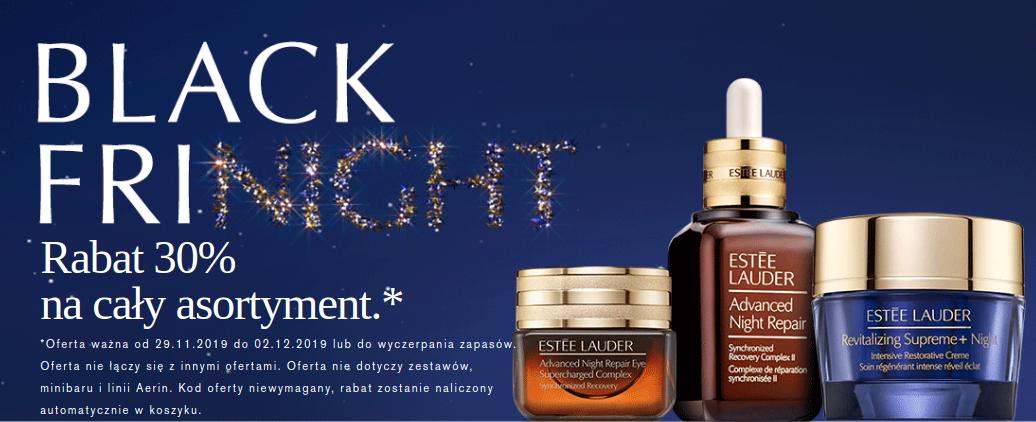 Estee Lauder: Black Friday 30% rabatu na cały asortyment kosmetyków do pielęgnacji, makijażu oraz zapachów                         title=