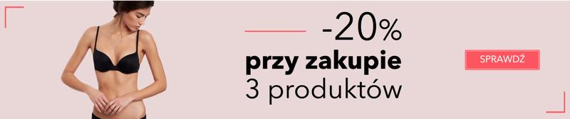 Etam: 20% rabatu przy zakupie 3 produktów z kolekcji bielizny damskiej