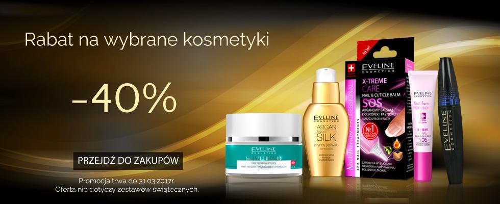 Eveline Cosmetics: 40% zniżki na wybrane kosmetyki