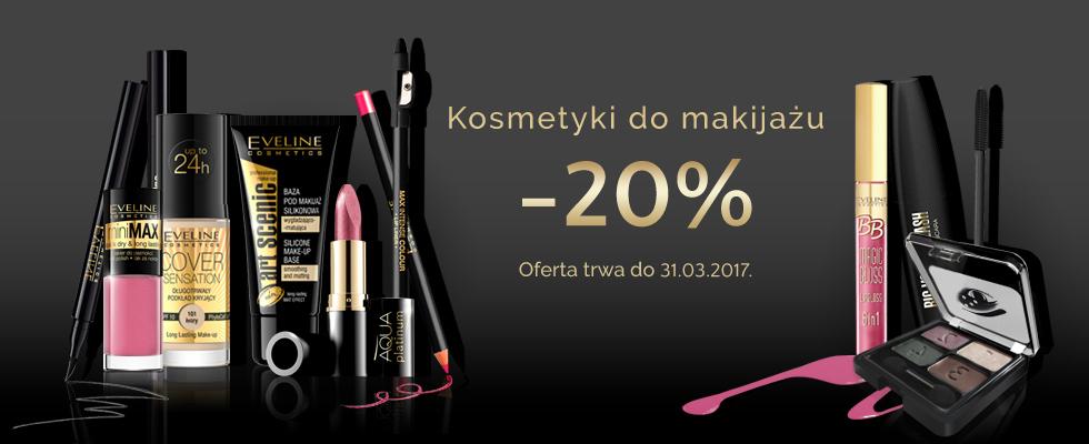 Eveline Cosmetics: 20% rabatu na kosmetyki do makijażu