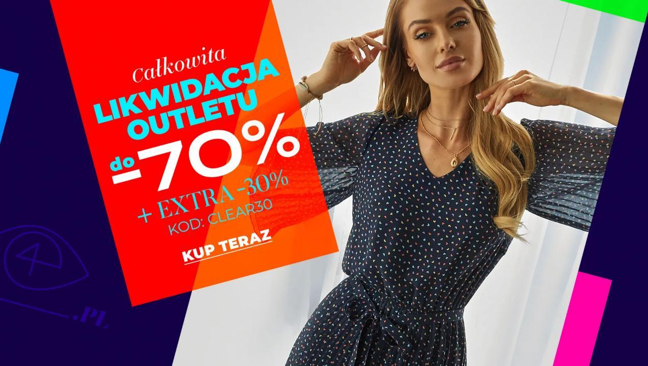 Eye for fashion: extra 30% zniżki na odzież z outletu przecenioną do 70% - likwidacja Outletu