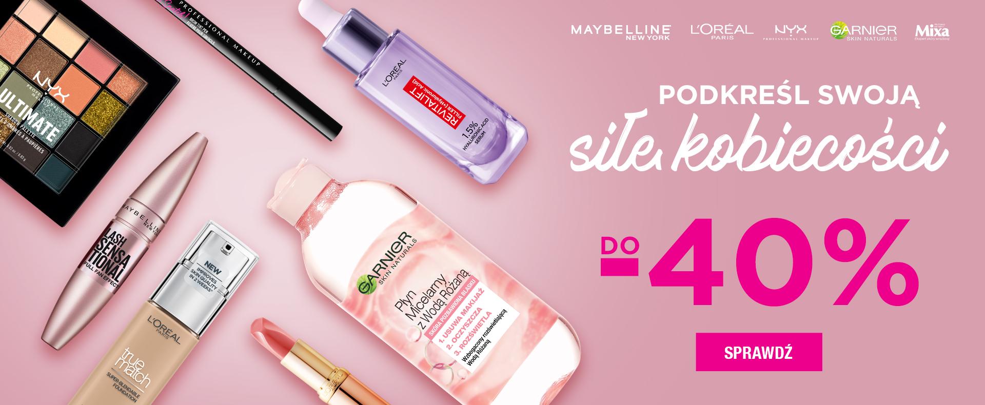 Ezebra Ezebra: do 40% rabatu na kosmetyki marek Maybelline, L'Oreal, NYX, Garnier, Mixa