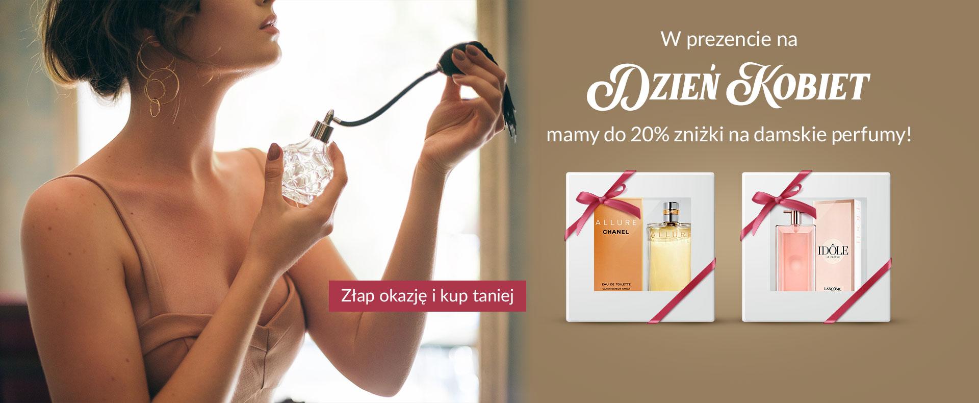 Ezebra: 20% rabatu na perfumy damskie - promocja na Dzień Kobiet