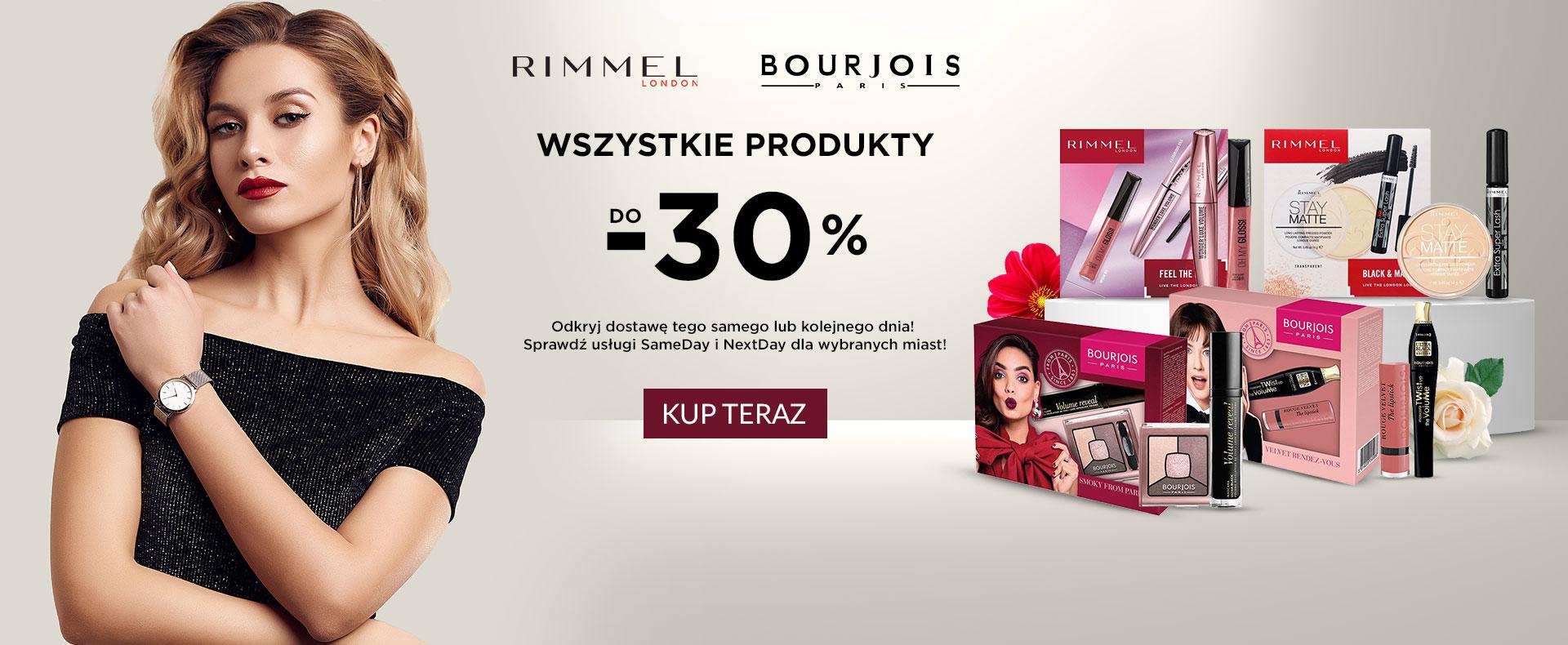 Ezebra: do 30% rabatu na wszystkie produkty marek Rimmel London oraz Bourjois Paris
