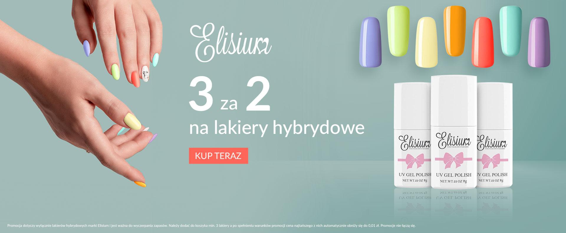 Ezebra Ezebra: 3 lakiery hybrydowe marki Elisium w cenie  2