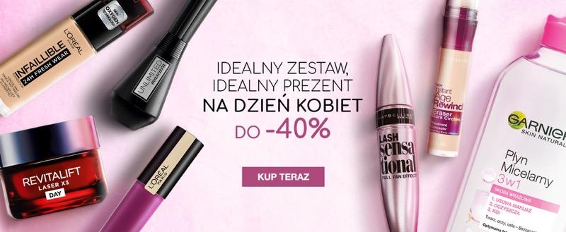 Ezebra: do 40% zniżki na kosmetyki na Dzień Kobiet