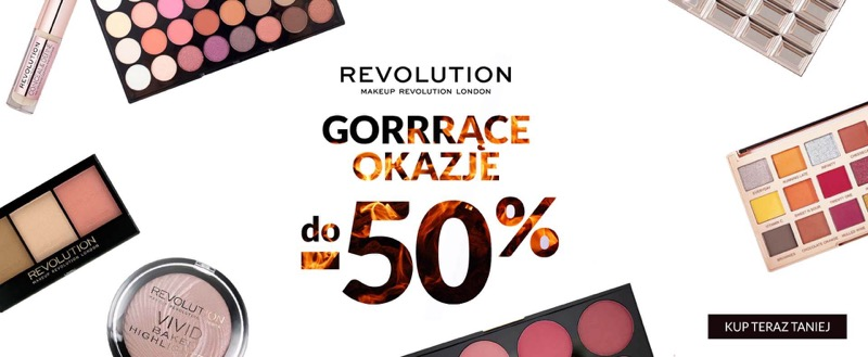Ezebra: do 50% rabatu na kosmetyki marki Makeup Revolution