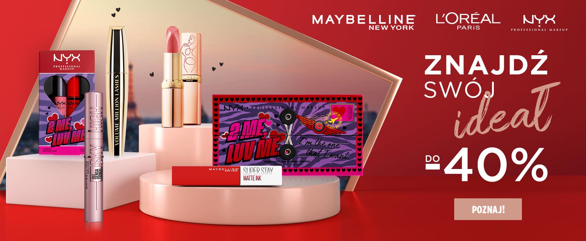 Ezebra: do 40% rabatu na kosmetyki marek Maybelline, L'Oreal, NYX