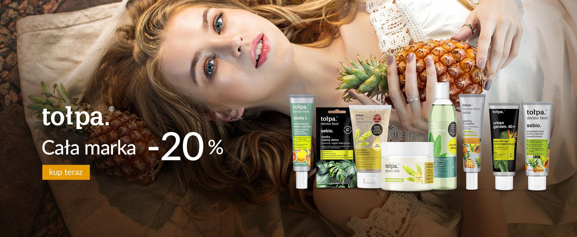 Ezebra: 20% rabatu na produkty marki Tołpa