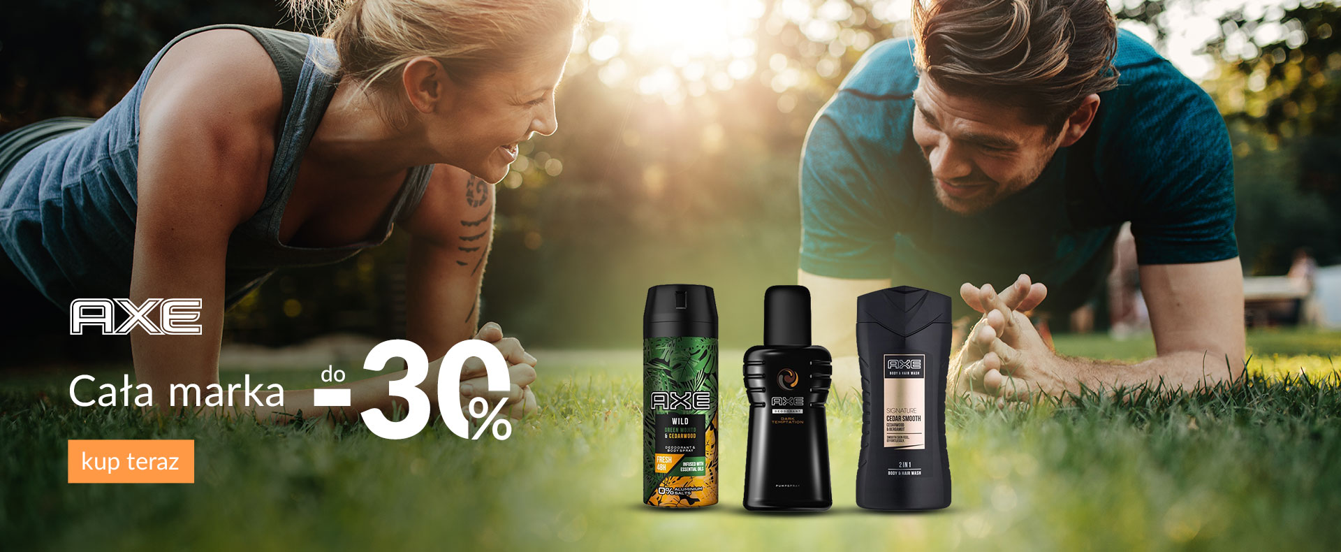 Ezebra Ezebra: do 30% zniżki na kosmetyki marki Axe