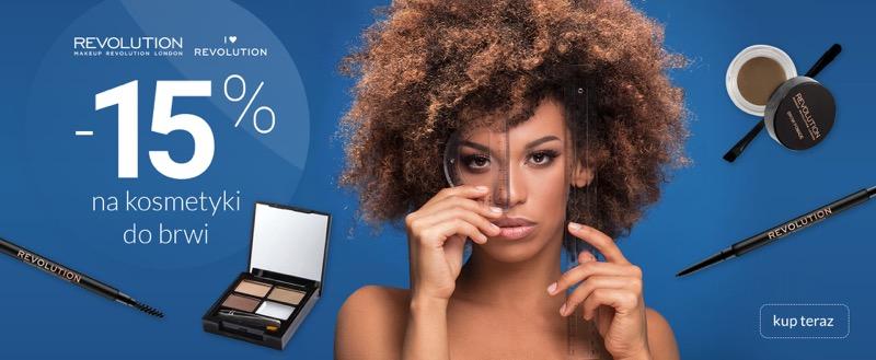 Ezebra Ezebra: 15% zniżki na kosmetyki do brwi marki Makeup Revolution