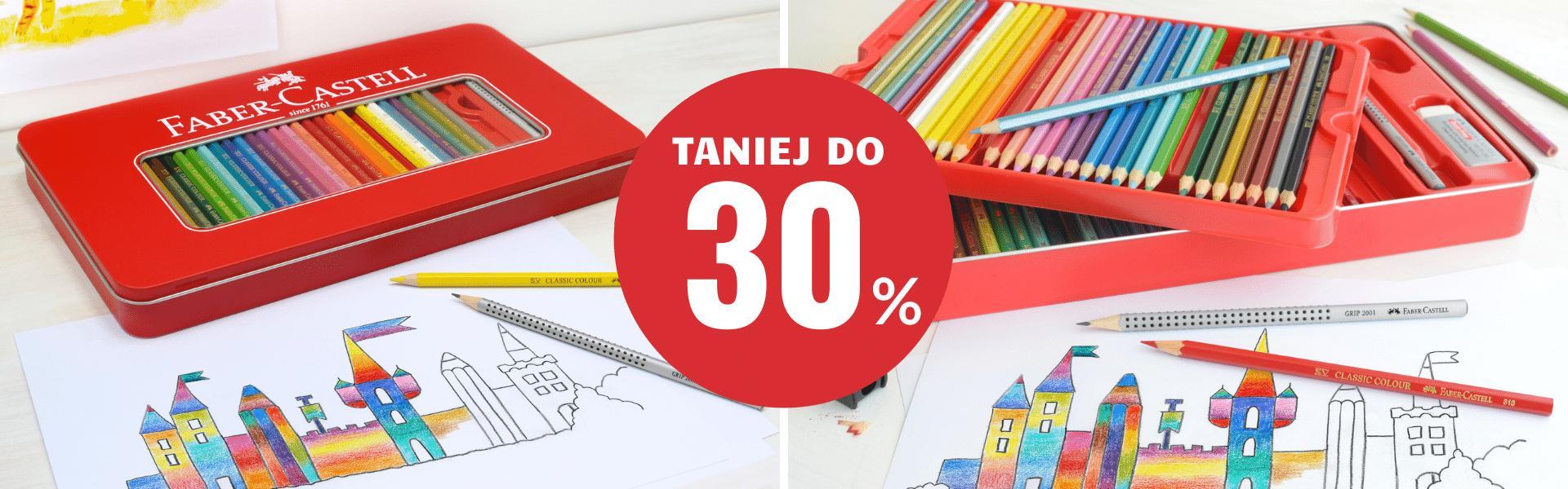Autoryzowany sklep FABER-CASTELL: do 30% zniżki na kredki marki Faber Castell