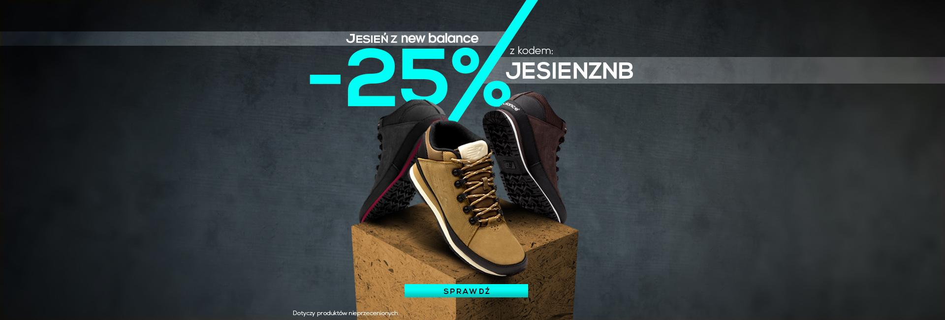 Fabryka Cen: 25% zniżki na buty marki New Balance