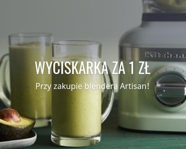 Fabryka Form: przy zakupie blendera Artisan otrzymasz wyciskarkę za 1 zł