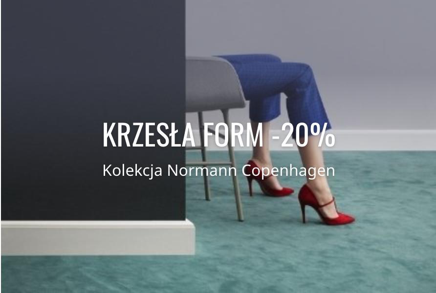 Fabryka Form: 20% zniżki na kolekcję krzeseł i foteli Form marki Normann Copenhagen